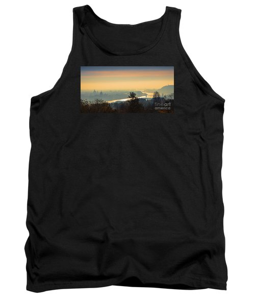Tank Top featuring the photograph Golden Sunrise Over Budapest by Jivko Nakev