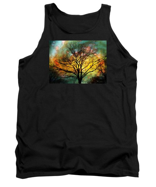 Golden Sunset Treescape Tank Top by Barbara Chichester
