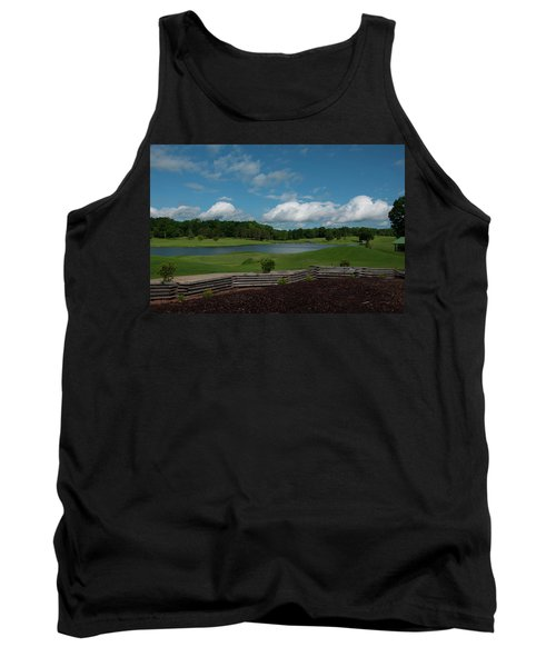 Golf Course The Back 9 Tank Top by Chris Flees
