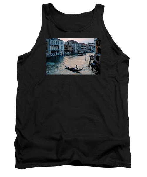 Gondolier On Grand Canal Tank Top