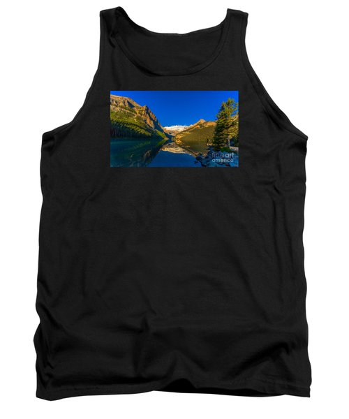 Good Morning Lake Louise Tank Top by John Roberts