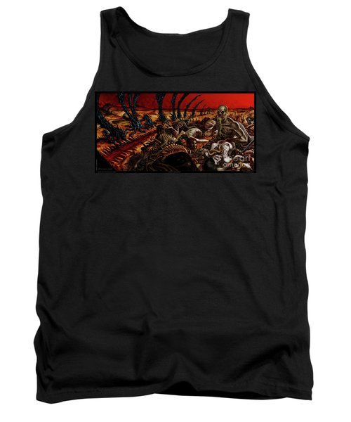Gored-explored Tank Top