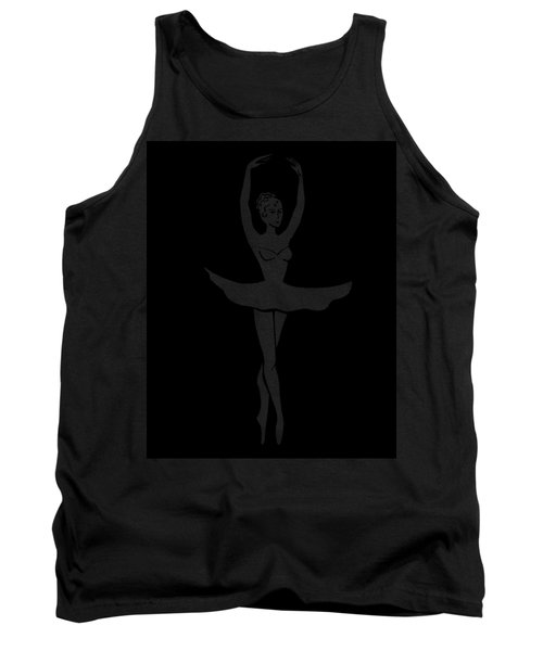 Graceful Dance Ballerina Silhouette Tank Top