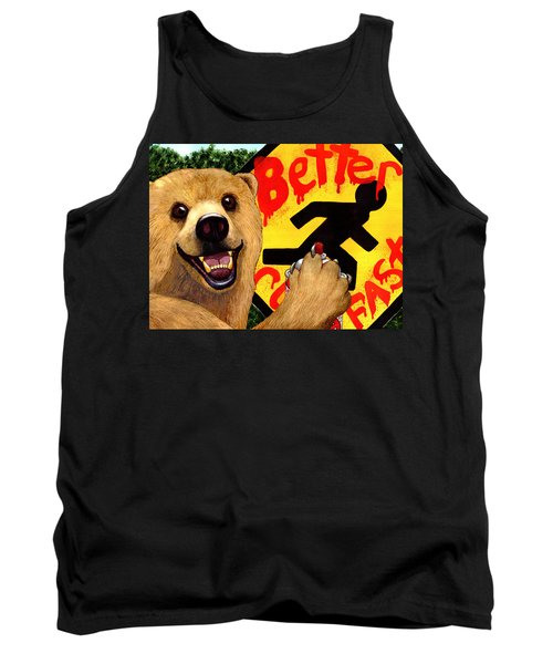 Graffiti Bear Tank Top