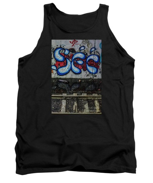 Graffitti And Train Tracks Tank Top