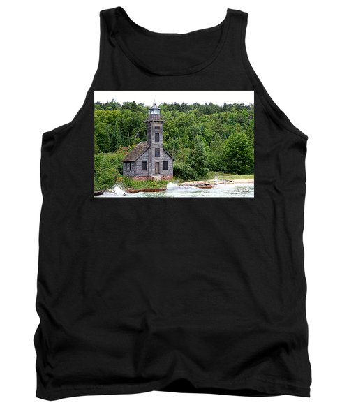 Grand Island East Channel Lighthouse #6680 Tank Top by Mark J Seefeldt