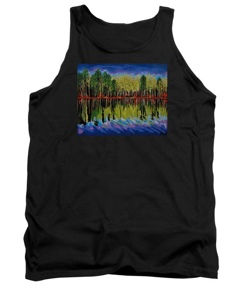 Tank Top featuring the painting Grant's Lake Reflections by Kathleen Sartoris