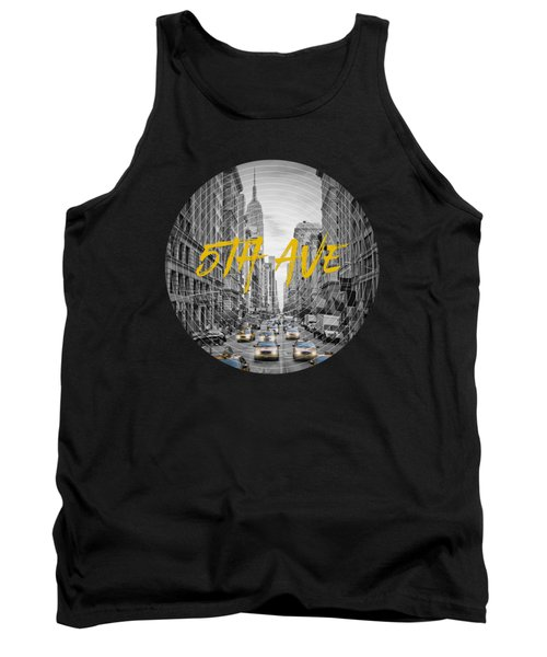 Graphic Art Nyc 5th Avenue Tank Top