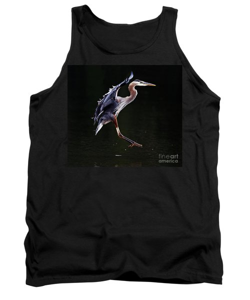 Great Blue Heron On The Wing Tank Top