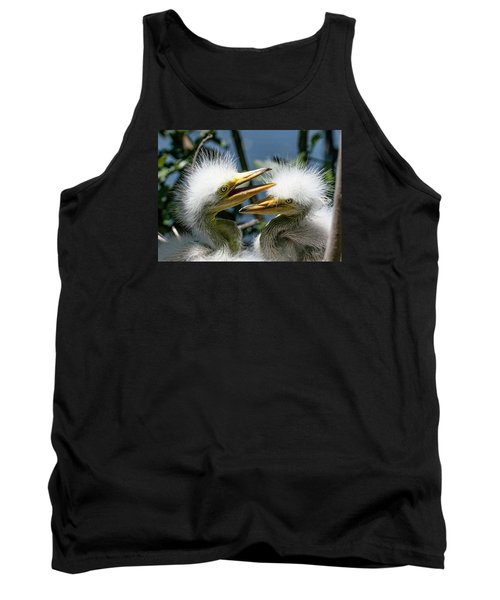 Great Egret Chicks Tank Top