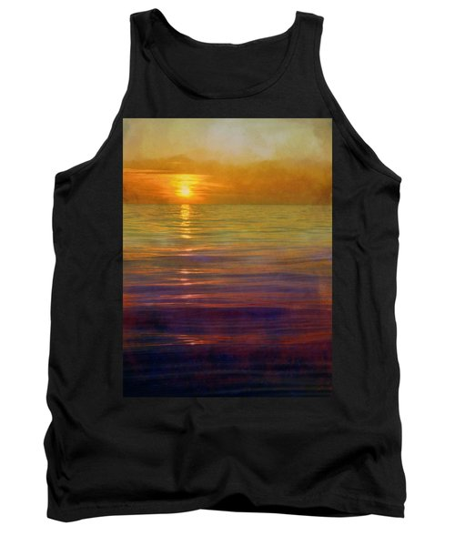 Tank Top featuring the digital art Great Lakes Setting Sun by Michelle Calkins