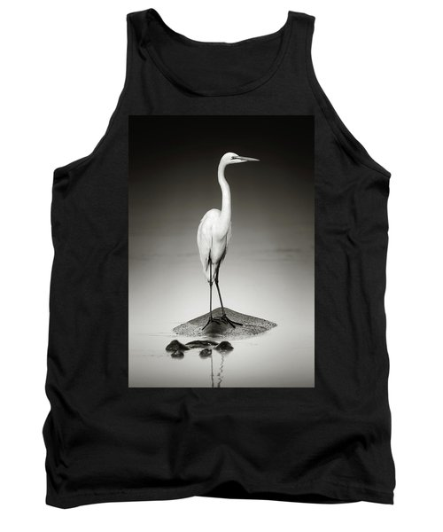 Great White Egret On Hippo Tank Top