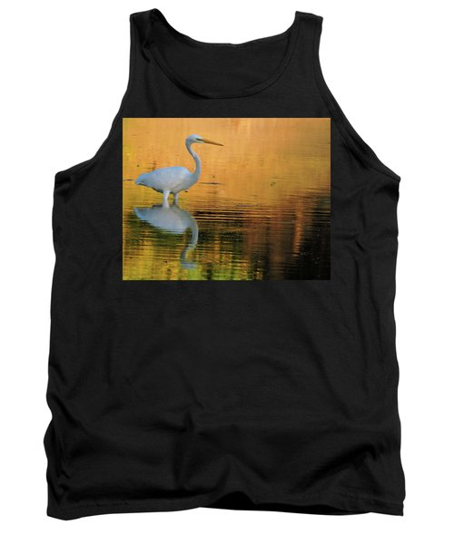 Great White On Gold Tank Top