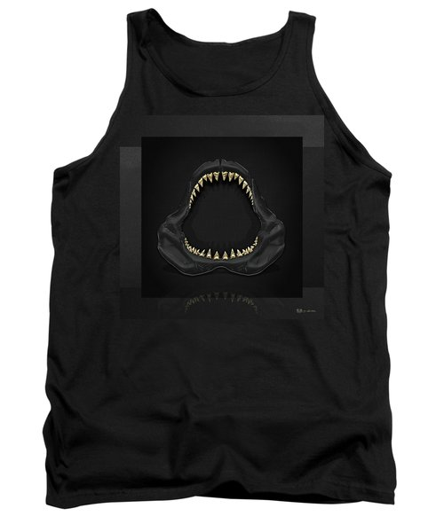 Great White Shark Jaws With Gold Teeth  Tank Top