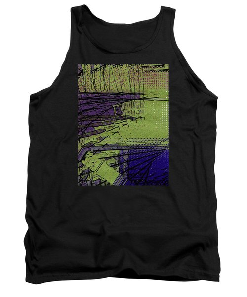 Green And Purple Field Tank Top