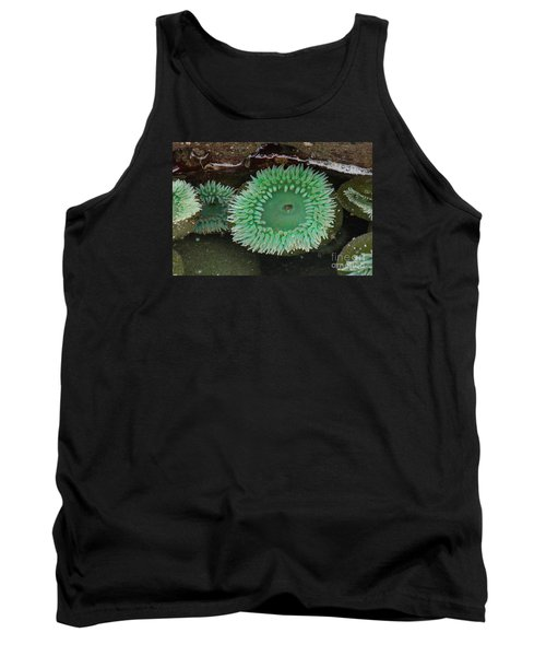 Green Anemone Tank Top by Chuck Flewelling