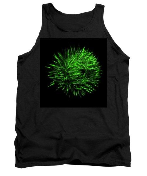 Green Flower Burst Tank Top