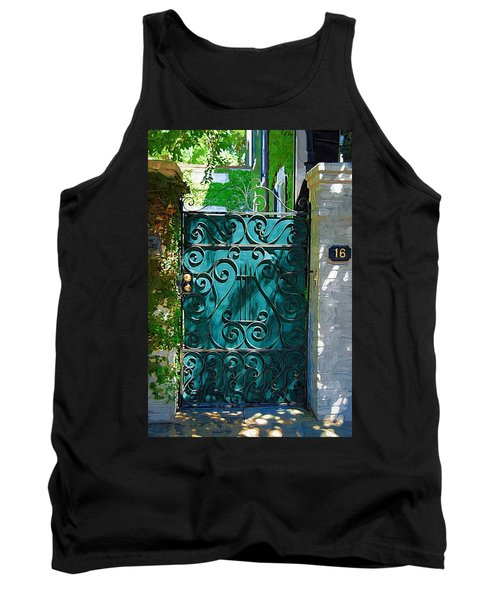 Green Gate Tank Top by Donna Bentley