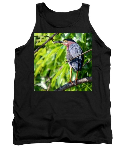 Green Heron Tank Top by Sumoflam Photography