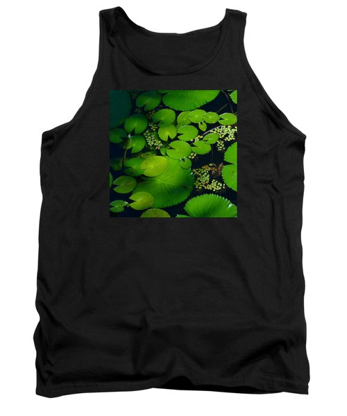 Green Islands Tank Top by Evelyn Tambour