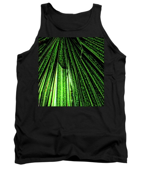 Green Leaf Forest Photo Tank Top