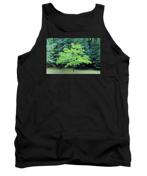 Green Standout Tree Tank Top