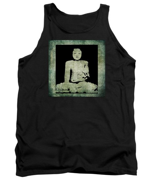 Tank Top featuring the painting Green Tranquil Buddha by Kandy Hurley