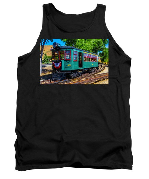 Green Tucson Cornelia And Gila Bend R R Tank Top