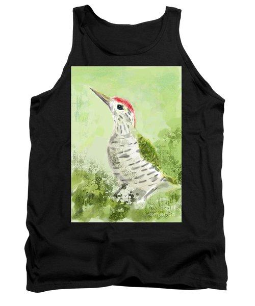 Green Woodpecker Tank Top