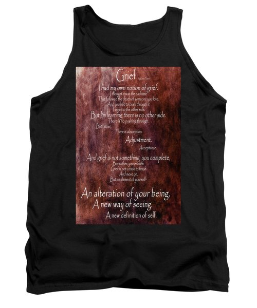 Tank Top featuring the mixed media Grief 3 by Angelina Vick