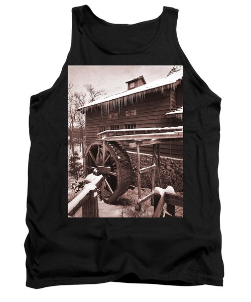 Grist Mill At Siver Dollar City Tank Top by Garry McMichael