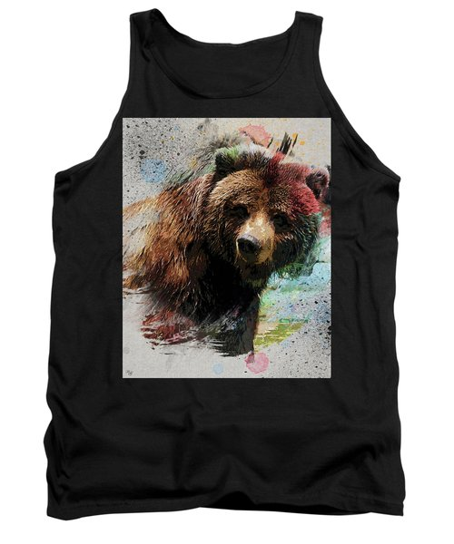 Grizzly Bear Art Tank Top