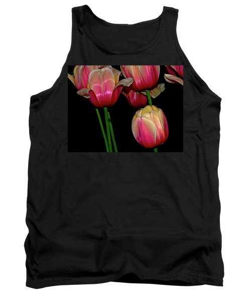 Grouping Ofpink And Yellow Tulips Tank Top