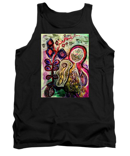 Tank Top featuring the mixed media Growth by Mimulux patricia no No