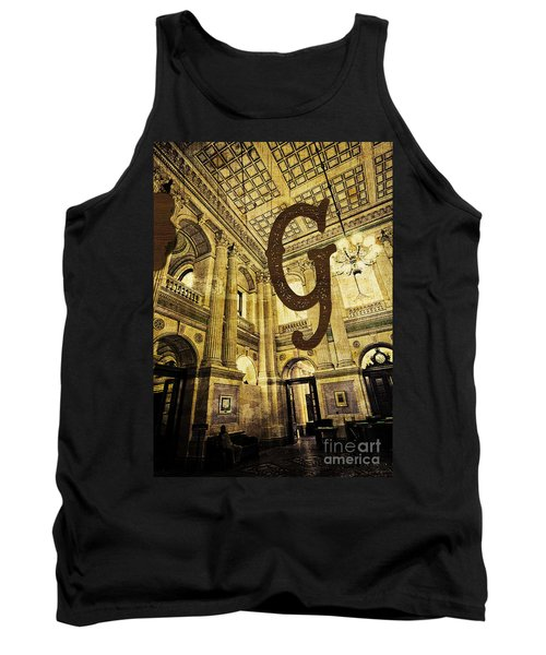 Grungy Melbourne Australia Alphabet Series Letter G Government P Tank Top
