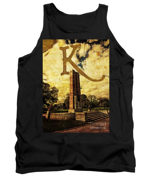 Grungy Melbourne Australia Alphabet Series Letter K Kings Domain Tank Top