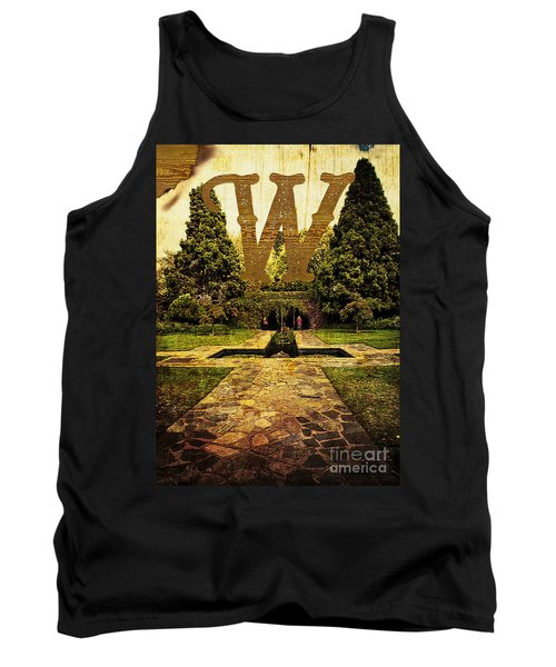 Grungy Melbourne Australia Alphabet Series Letter W Pioneer Wome Tank Top
