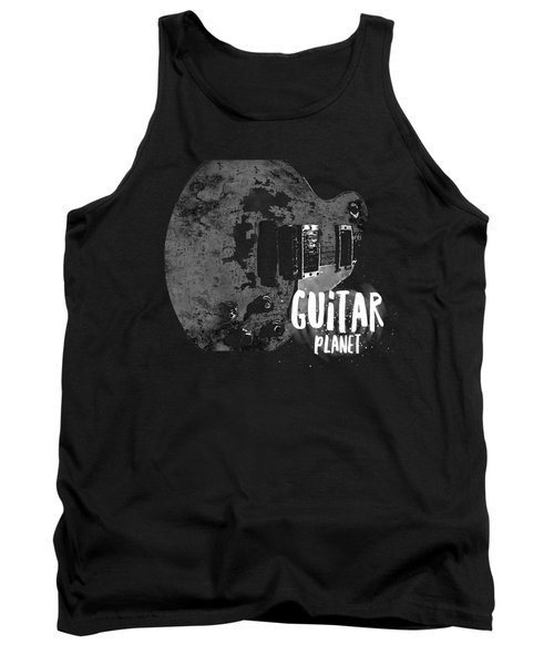 Tank Top featuring the photograph Guitar Planet  by Guitar Wacky