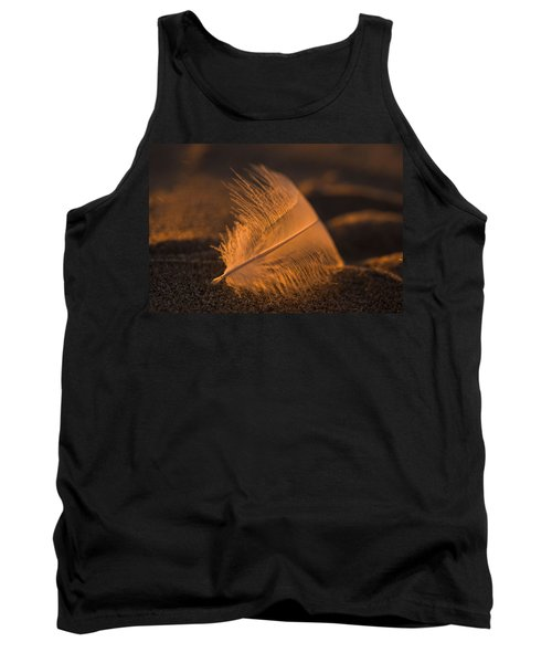 Gull Feather At Sunset Tank Top