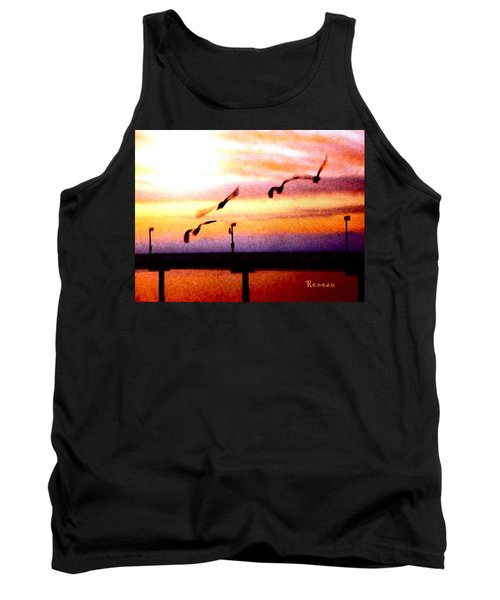 Tank Top featuring the photograph Gull Play by Sadie Reneau