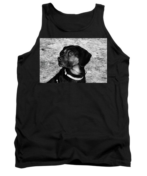 Gus - Black And White Tank Top