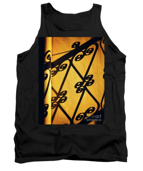 Tank Top featuring the photograph Gutter And Ornate Shadows by Silvia Ganora
