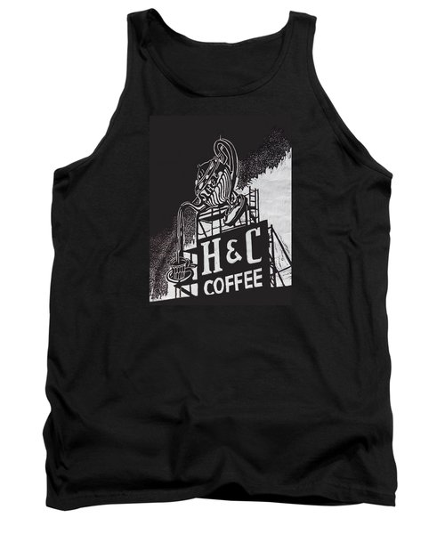 H And C Coffee Sign Tank Top