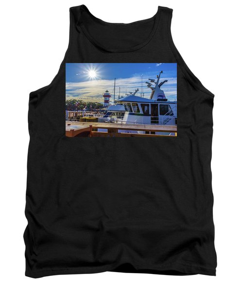 Habour Town Lighthouse And Marina Tank Top