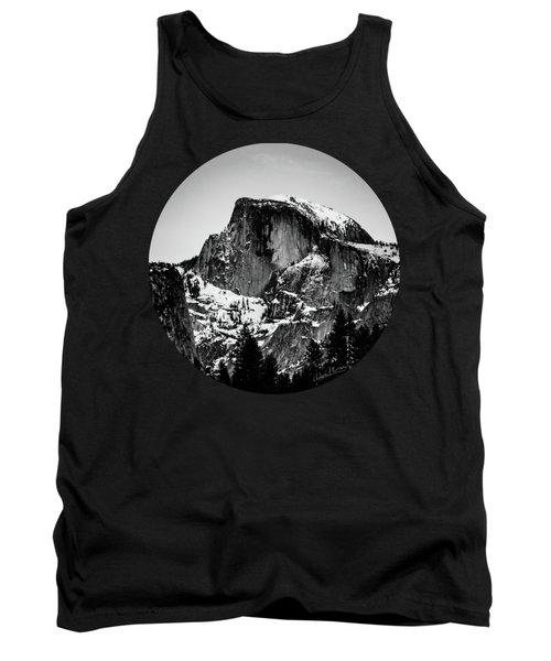 Half Dome Aglow, Black And White Tank Top by Adam Morsa