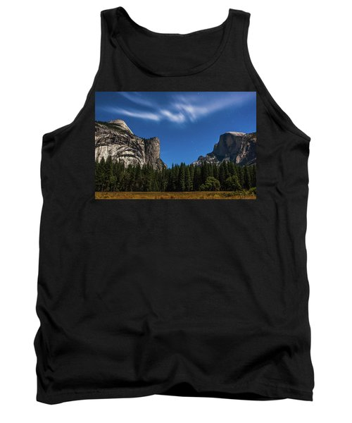 Half Dome And Moonlight - Yosemite Tank Top