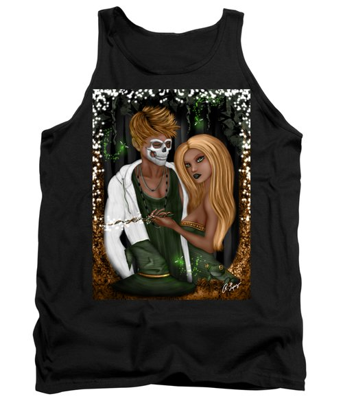 Tank Top featuring the painting Halloween In Florida Fantasy Art by Raphael Lopez