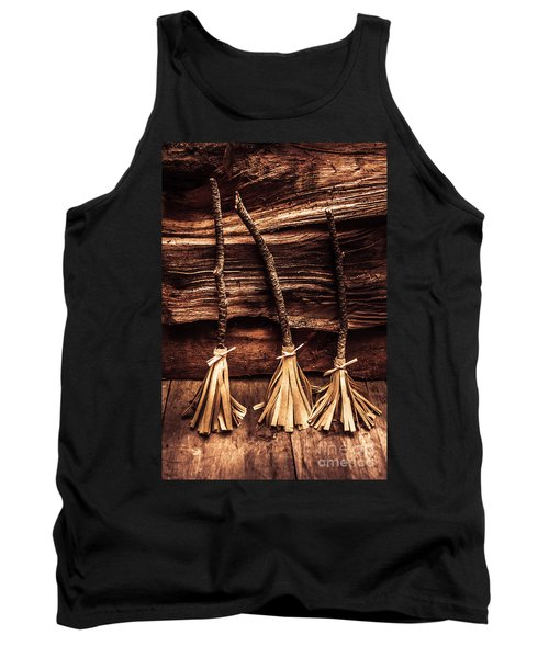 Halloween Witch Brooms Tank Top