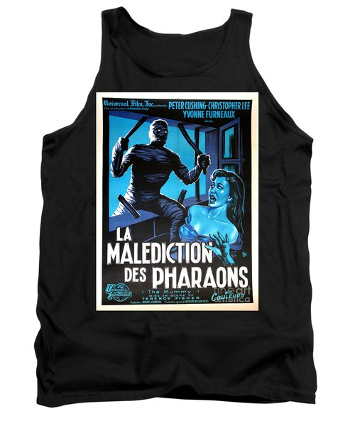Hammer Movie Poster The Mummy La Malediction Des Pharaons Tank Top by R Muirhead Art