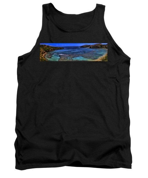 Tank Top featuring the photograph Hanauma Bay Panorama by Ellen Heaverlo